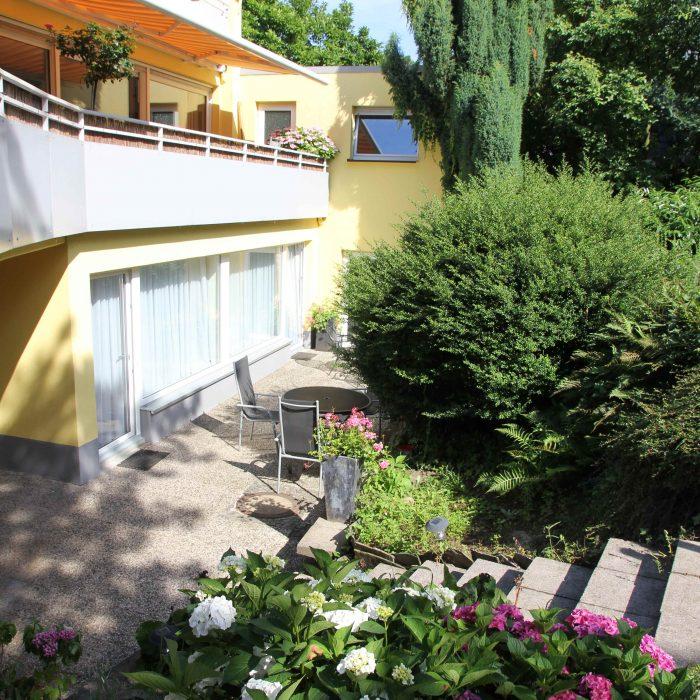 appartement terrasse hotel haus mariandl düsseldorf angermund
